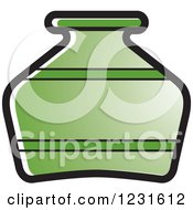 Clipart Of A Green Pottery Jug Icon Royalty Free Vector Illustration by Lal Perera