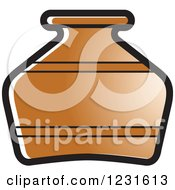 Clipart Of A Brown Pottery Jug Icon Royalty Free Vector Illustration