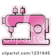 Pink Sewing Machine Icon