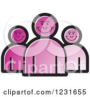 Clipart Of A Purple Happy People Icon Royalty Free Vector Illustration