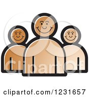 Clipart Of A Brown Happy People Icon Royalty Free Vector Illustration