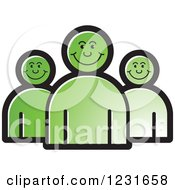 Clipart Of A Green Happy People Icon Royalty Free Vector Illustration