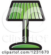Clipart Of A Green Lamp Icon Royalty Free Vector Illustration