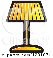 Clipart Of A Yellow Lamp Icon Royalty Free Vector Illustration