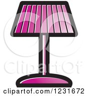 Clipart Of A Purple Lamp Icon Royalty Free Vector Illustration