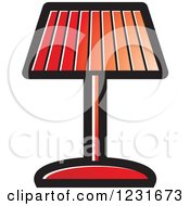 Clipart Of A Red Lamp Icon Royalty Free Vector Illustration