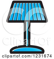 Clipart Of A Blue Lamp Icon Royalty Free Vector Illustration