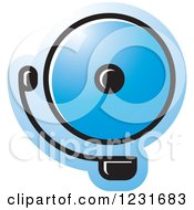 Clipart Of A Blue Electric Bell Icon Royalty Free Vector Illustration