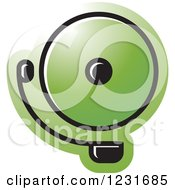 Clipart Of A Green Electric Bell Icon Royalty Free Vector Illustration