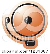 Clipart Of An Orange Electric Bell Icon Royalty Free Vector Illustration