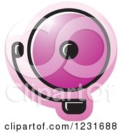Clipart Of A Purple Electric Bell Icon Royalty Free Vector Illustration