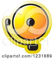 Clipart Of A Yellow Electric Bell Icon Royalty Free Vector Illustration by Lal Perera