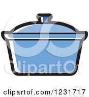 Clipart Of A Blue Pot Icon Royalty Free Vector Illustration