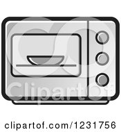 Clipart Of A Gray Microwave Icon Royalty Free Vector Illustration