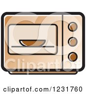 Clipart Of A Brown Microwave Icon Royalty Free Vector Illustration
