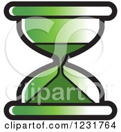 Clipart Of A Green Hourglass Icon Royalty Free Vector Illustration by Lal Perera