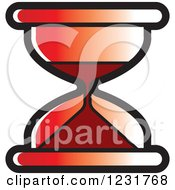 Clipart Of A Red Hourglass Icon Royalty Free Vector Illustration by Lal Perera