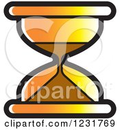 Clipart Of An Orange Hourglass Icon Royalty Free Vector Illustration by Lal Perera