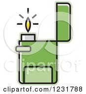 Clipart Of A Green Lighter Icon Royalty Free Vector Illustration by Lal Perera