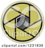 Clipart Of A Green Photography Lens Aperture Icon Royalty Free Vector Illustration by Lal Perera