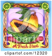 Clay Sculpture Clipart A Fresh Start Mango Fruit Scene Royalty Free 3d Illustration