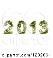 Clipart Of A 3d Christmas Tree 2013 Royalty Free Illustration by Mopic