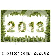 Clipart Of A 3d Christmas Tree 2013 Bordered In Pine Royalty Free Illustration by Mopic