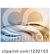 Clipart Of A Dynamic Background Of Flowing Waves 3 Royalty Free Illustration