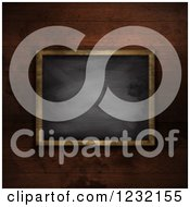 Clipart Of A 3d Framed Blackboard Over Wood Royalty Free Illustration by KJ Pargeter