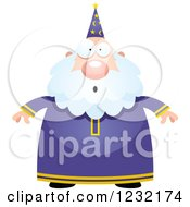 Clipart Of A Surprised Gasping Male Wizard Royalty Free Vector Illustration