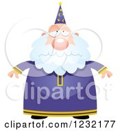 Clipart Of A Depressed Male Wizard Royalty Free Vector Illustration