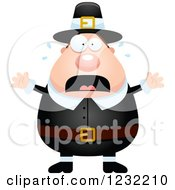 Clipart Of A Scared Screaming Male Thanksgiving Pilgrim Royalty Free Vector Illustration by Cory Thoman