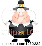 Clipart Of A Happy Male Thanksgiving Pilgrim Royalty Free Vector Illustration by Cory Thoman