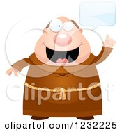 Clipart Of A Talking Monk Royalty Free Vector Illustration by Cory Thoman