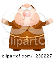 Clipart Of A Mad Monk Royalty Free Vector Illustration