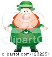 Clipart Of A Happy St Patricks Day Leprechaun Royalty Free Vector Illustration by Cory Thoman