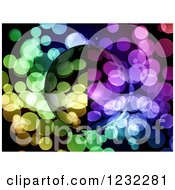 Clipart Of A Globe Over Colorful Dots Royalty Free Illustration by oboy