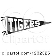Black And White Tigers Team Pennant Flag