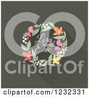 Clipart Of A Colorful Floral Wreath With Laura And Eric Sample Text Royalty Free Vector Illustration by elena