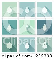 Clipart Of Water Drops And Shadows On Different Tiles Royalty Free Vector Illustration by elena