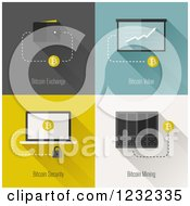 Clipart Of Bitcoins With A Wallet Chart And Laptop Royalty Free Vector Illustration by elena