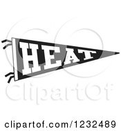 Black And White HEAT Team Pennant Flag