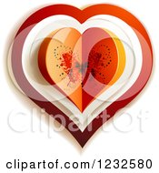 Clipart Of A Butterfly Valentine Heart Royalty Free Vector Illustration