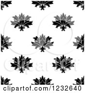 Clipart Of A Seamless Black And White Damask Background Pattern 3 Royalty Free Vector Illustration