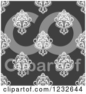 Clipart Of A Seamless Damask Background Pattern Royalty Free Vector Illustration