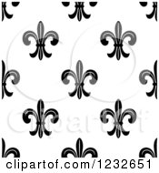 Seamless Black And White Fleur De Lis Background Pattern 4