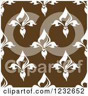 Seamless Brown And White Fleur De Lis Background Pattern