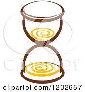 Clipart Of A Brown And Yellow Hourglass 2 Royalty Free Vector Illustration