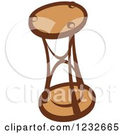 Clipart Of A Brown Hourglass 2 Royalty Free Vector Illustration
