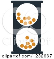 Clipart Of An Orange And Black Hourglass 18 Royalty Free Vector Illustration